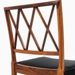 Ole Wanscher dining chairs in rosewood at Studio Schalling