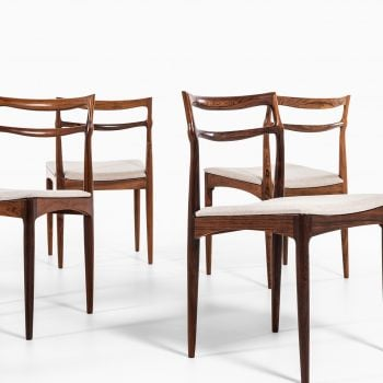 Johannes Andersen dining chairs in rosewood at Studio Schalling