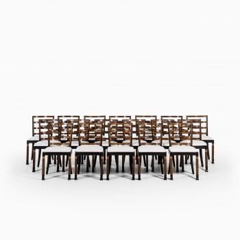 Erik Chambert large set of 18 dining chairs at Studio Schalling