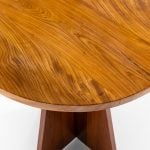 Round side table in oregon pine and elm at Studio Schalling