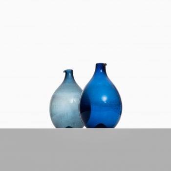 Timo Sarpaneva glass vases model Pullo at Studio Schalling