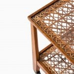 Otto Schulz trolley in oak and woven cane at Studio Schalling