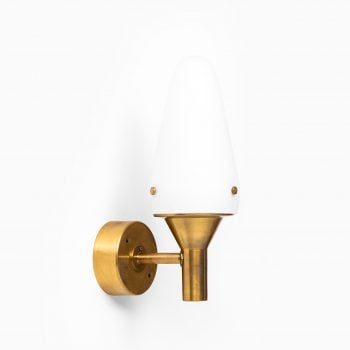 Hans-Agne Jakobsson wall lamps in brass and opal glass at Studio Schalling