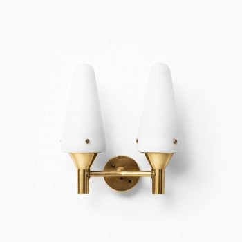 Hans-Agne Jakobsson wall lamps in brass at Studio Schalling