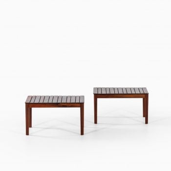 Side tables by Alberts in solid rosewood at Studio Schalling