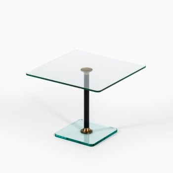 Coffee / side table in glass and brass at Studio Schalling