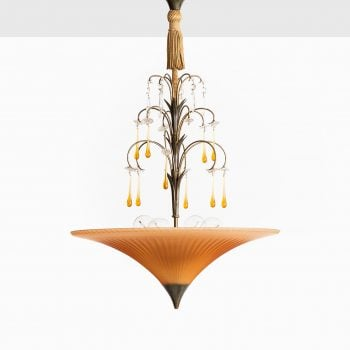 Elis Bergh ceiling lamp in glass by Böhlmarks at Studio Schalling