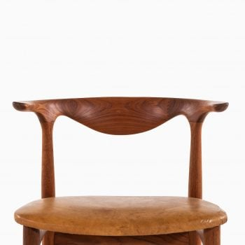 Knud Færch Cowhorn armchairs in teak at Studio Schalling
