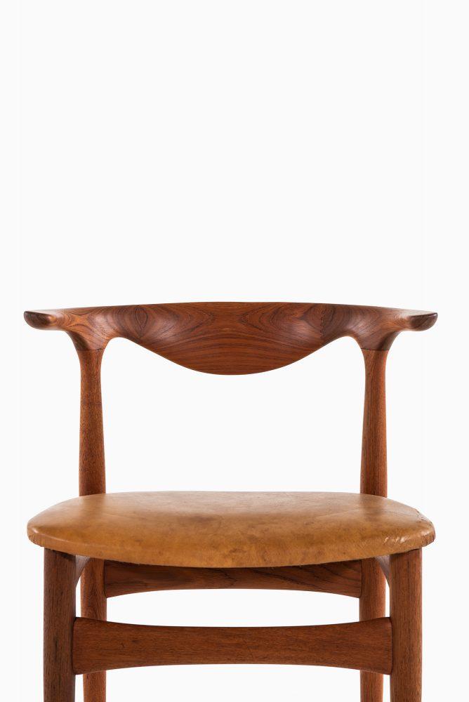 Knud Færch Cowhorn armchairs in teak at Studio Schalling