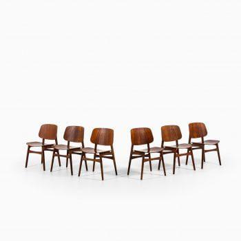 Børge Mogensen dining chairs model 122 at Studio Schalling