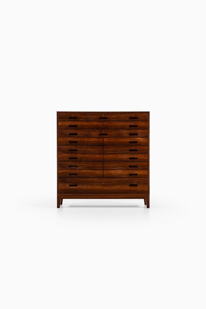 Kai Winding bureau in rosewood and brass at Studio Schalling