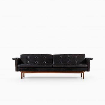 Karl-Erik Ekselius sofa in black leather at Studio Schalling