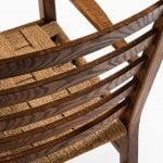 1940's easy chairs in oak and hemp string at Studio Schalling