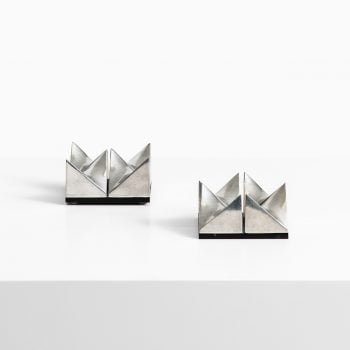 Beck & Jung pair of Girocubes sculptures at Studio Schalling