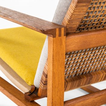 Børge Mogensen sled easy chairs in oak at Studio Schalling