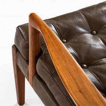 Arne Norell Löven easy chairs in walnut at Studio Schalling