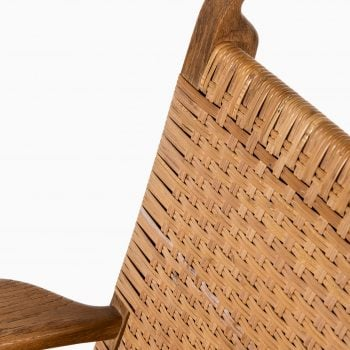 Hans Wegner easy chairs model CH-27 in oak at Studio Schalling