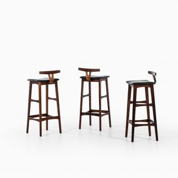Erik Buch bar stools in rosewood by Dyrlund at Studio Schalling