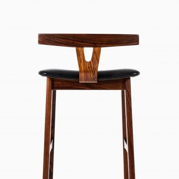 Erik Buch bar stools in rosewood by Dyrlund at Studio Schalling