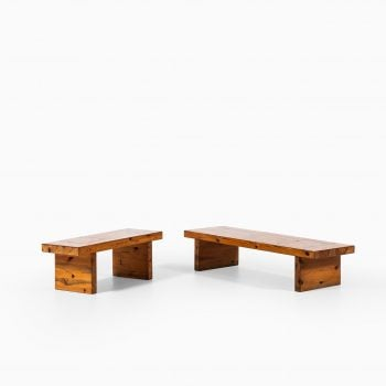 Roland Wilhelmsson bench in solid pine at Studio Schalling