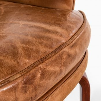 Arne Norell Pilot easy chairs in leather at Studio Schalling