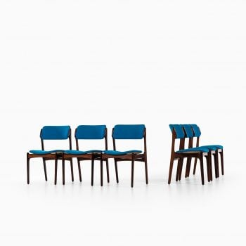 Erik Buch OD-49 dining chairs in rosewood at Studio Schalling