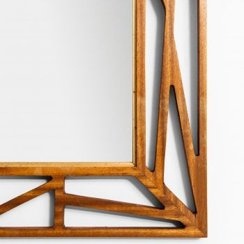 Yngve Ekström attributed mirror in mahogany at Studio Schalling