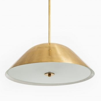 Paavo Tynell ceiling lamp in brass and glass at Studio Schalling