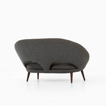 Loveseat sofa in dark grey fabric at Studio Schalling