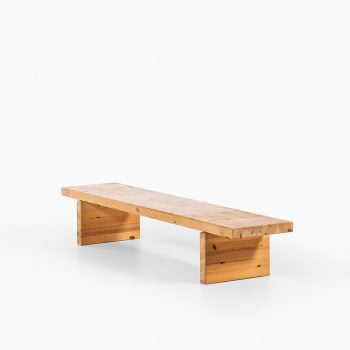 Roland Wilhelmsson bench in pine at Studio Schalling