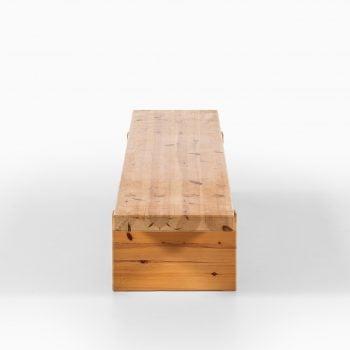 Roland Wilhelmsson bench in pine at Studio Schalling