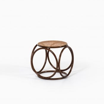 Michael Thonet stool in cane and bentwood at Studio Schalling