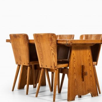 Göran Malmvall dining chairs in solid pine at Studio Schalling