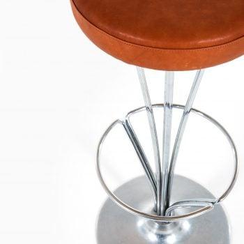 Piet Hein bar stools in chromed steel at Studio Schalling