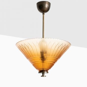 Edward Hald ceiling lamp by Orrefors at Studio Schalling