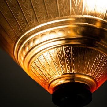 Edward Hald ceiling lamp by Orrefors at Studio Schalling