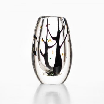 Vicke Lindstrand glass vase Autumn by Kosta at Studio Schalling