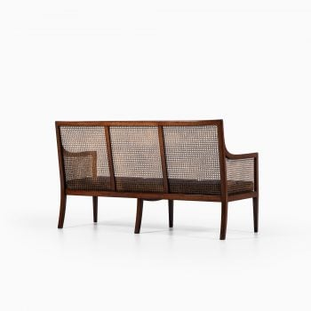 Lysberg Hansen & Therp sofa in mahogany and cane at Studio Schalling