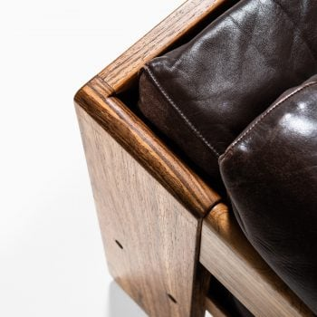 Tobia Scarpa Bastiano sofa in brown leather at Studio Schalling