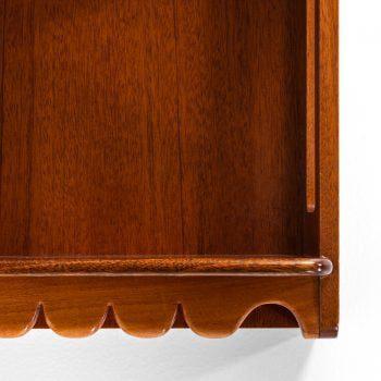 Josef Frank wallhanged bookshelves in mahogany at Studio Schalling