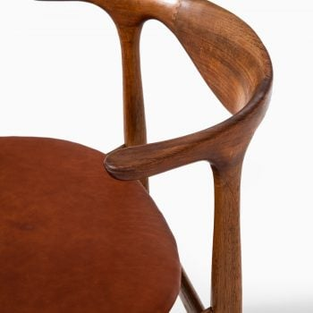 Knud Færch cowhorn armchair in oak and leather at Studio Schalling