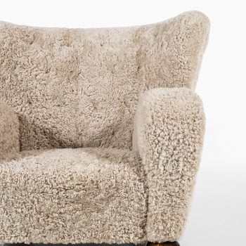 Märta Blomstedt Aulanko easy chair in sheepskin at Studio Schalling