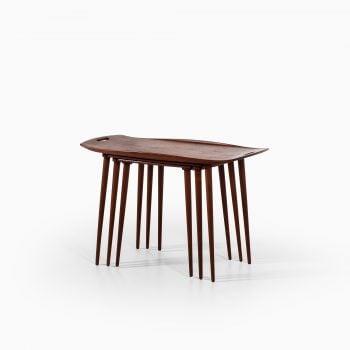 Jens Harald Quistgaard nesting tables in teak at Studio Schalling