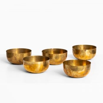 Brass bowls attributed to Carl Auböck at Studio Schalling