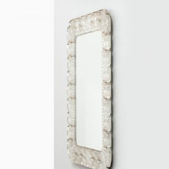 Carl Fagerlund glass mirror by Orrefors at Studio Schalling