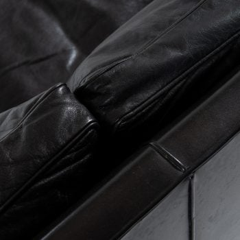 Børge Mogensen 2213 sofa in black leather at Studio Schalling