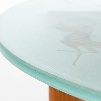 Coffee table in elm by Reiners möbelfabrik at Studio Schalling