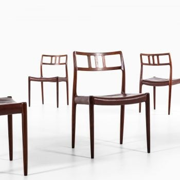 Niels O. Møller dining chairs model 79 at Studio Schalling