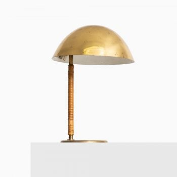 Paavo Tynell table lamp in brass and cane at Studio Schalling