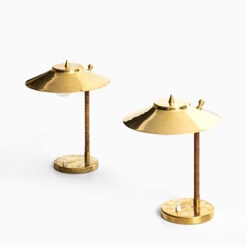 Pair of table lamps attributed to Paavo Tynell at Studio Schalling